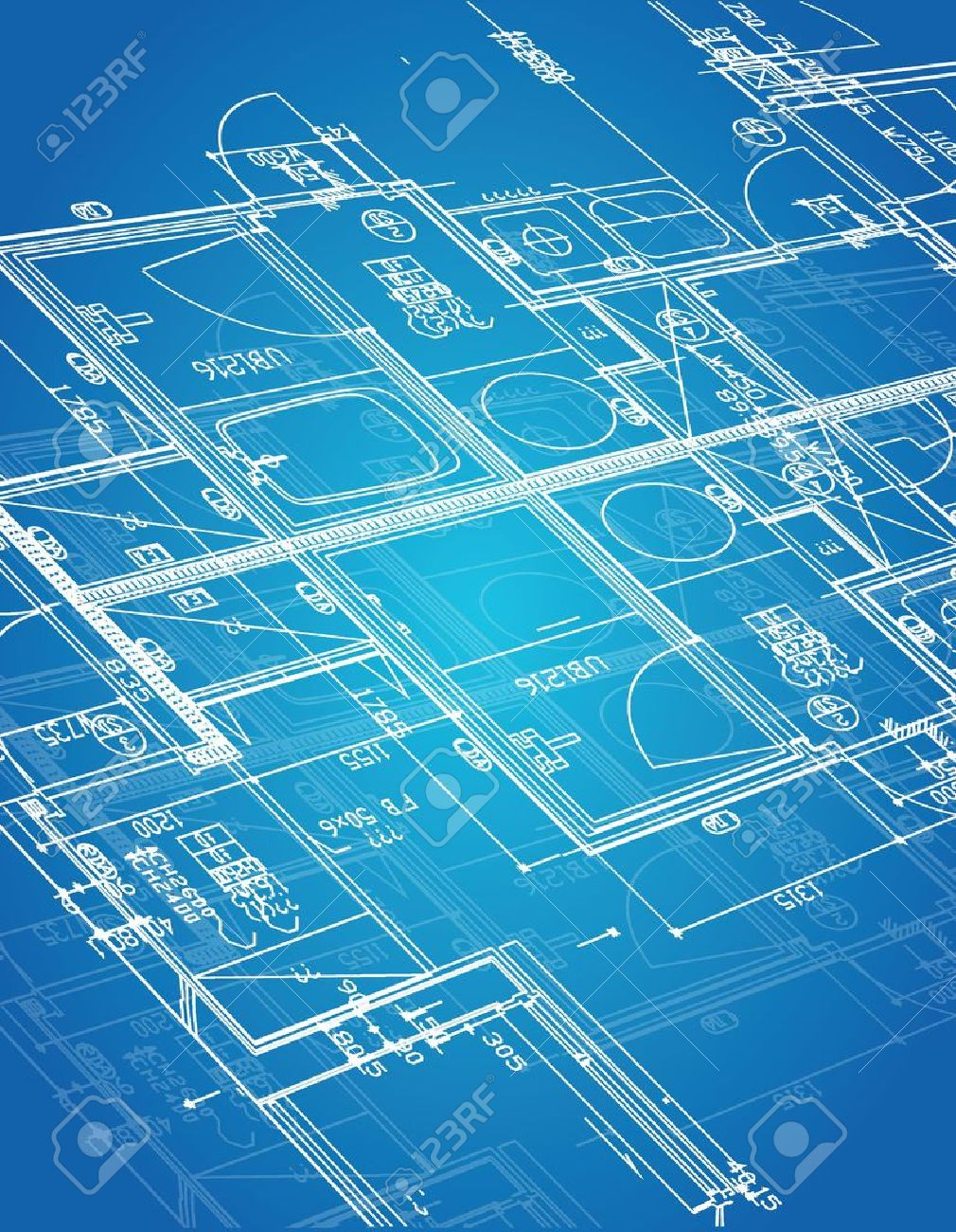33228980 Blueprint Blueprint Illustration Design Over A