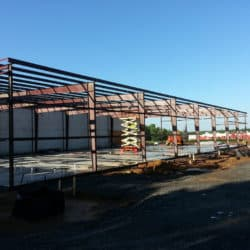 commercial construction warehouse addition by Roper